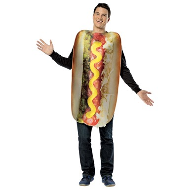 Mens Get Real Hot Dog Costume