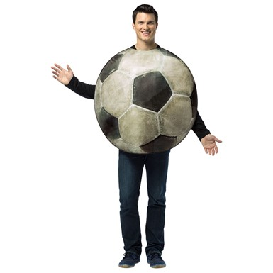 Mens Get Real Soccer Ball Sports Costume