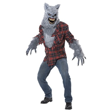 Mens Gray Werewolf Costume