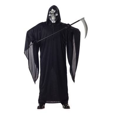 Mens Grim Reaper Costume - Black