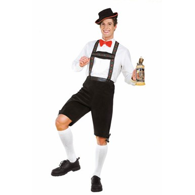 Mens Hansel Costume - Green and White