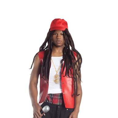 Men's Hip Hop Dreadlocks and Hat