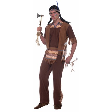 Mens Indian Brave Halloween Costume Size Standard