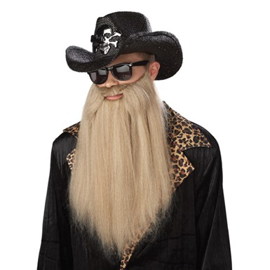 Mens Long Blonde Beard Halloween Costume Accessory