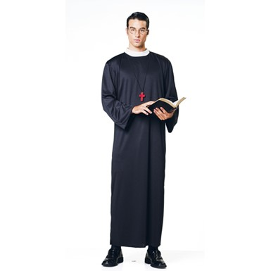 Mens Priest Halloween Costume - Holy Father Pastor
