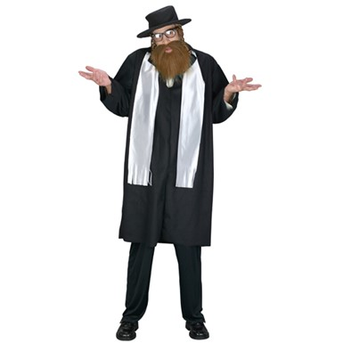 Mens Rabbi Costume - Religious Orthodox Rab