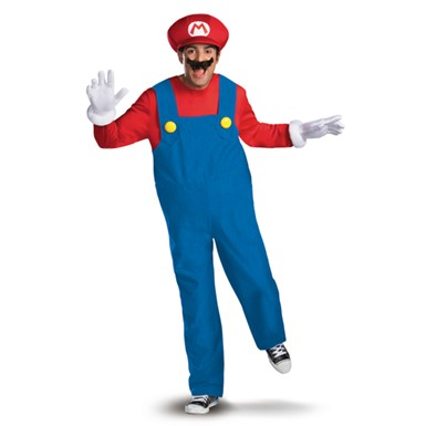 Mens Super Mario Costume - Deluxe