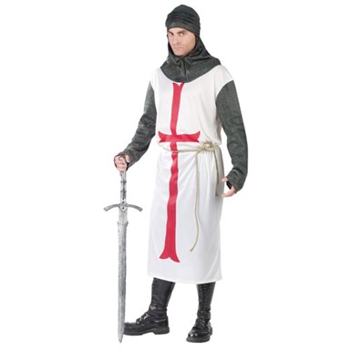 Mens Templar Knight Costume