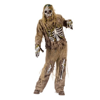 Mens Zombie Costume - Skeleton Zombie