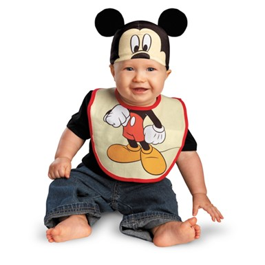 Mickey Mouse Bib and Hat Costume - Infant