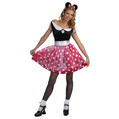 Minnie Mouse Disney Adult Costume Standard 12-14