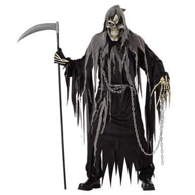 mr grim adult mens grim reaper halloween costume - Reaper Halloween