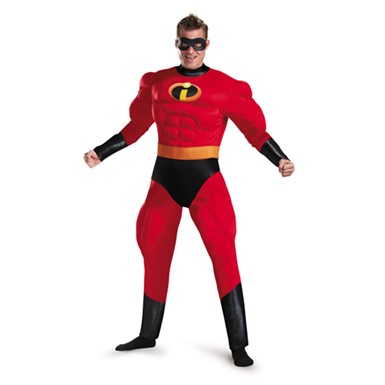 Mr. Incredible Deluxe Muscle Mens Costume 42-46 XL