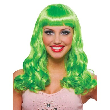Neon Green Party Girl Wig