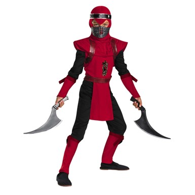 Ninja Kids Costume - Red Viper Ninja