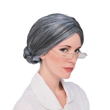 Old Grandma Wig - Grey
