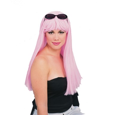 Pink Glamour Wig- Womens