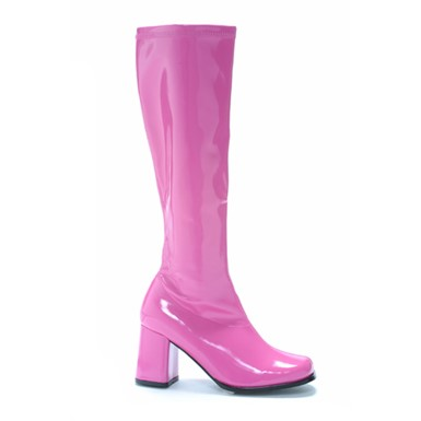 Pink Knee High Boots - Fuchsia Go Go