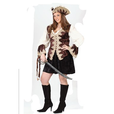 Plus Size Deluxe Pirate Lady Costume