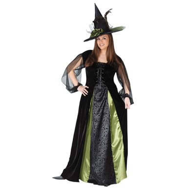 Plus Size Witch Halloween Costume - Goth Maiden Witch
