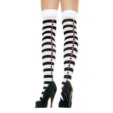 Poker Striped Stockings