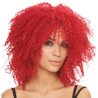 Pop Star Curly Red Wig