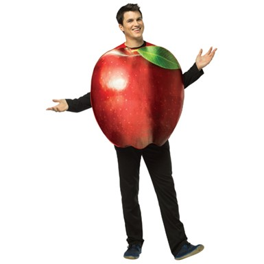 Red Apple Costume - Adult
