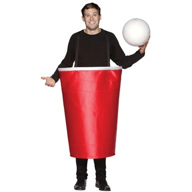 Red Beer Pong Cup Adult Halloween Costume
