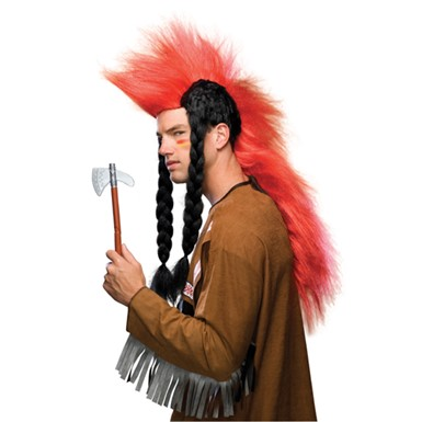 Red Indian Wig - Super Mowhawk