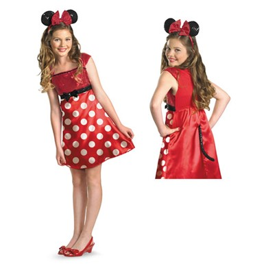 Red Minnie Mouse Tween Costume