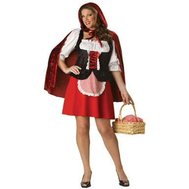 Red Riding Hood Plus Size Deluxe Halloween Costume