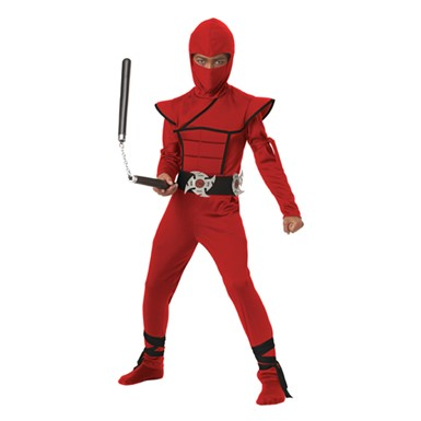 Red Stealth Ninja Boys Martial Arts Halloween Costume