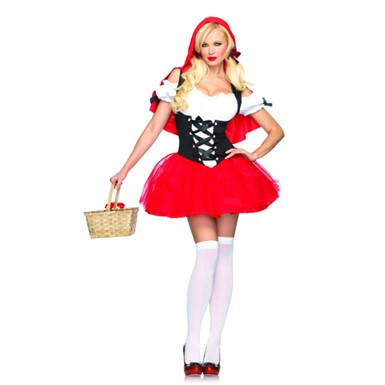 Riding Hood Costume - Racy Red Riding Hood