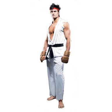 Ryu Street Fighter Costume - Mens