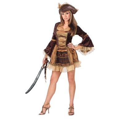 Sassy Victorian Pirate Costume - Womens