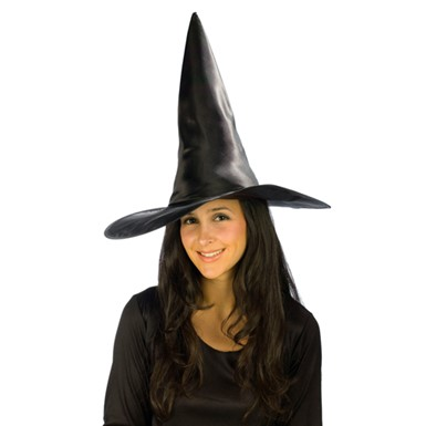 Satin Witch Hat - Deluxe