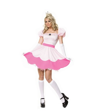 Sexy Pink Princess Off Shoulder Dress for Costume