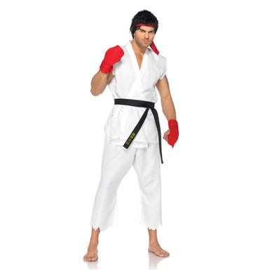 Sexy Ryu Street Fighter Mens Halloween Costume
