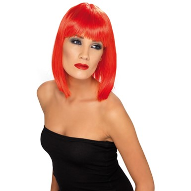 Short Red Glam Wig