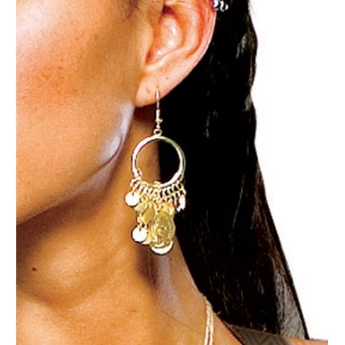 Spartan Queen Coin Earrings