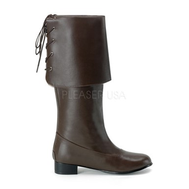 Tall Pirate Boots - Brown