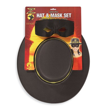 The Mask of Zorro Adult Hat and Eyemask Kit