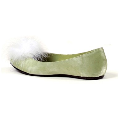 Tinker Womens Green Satin Shoes