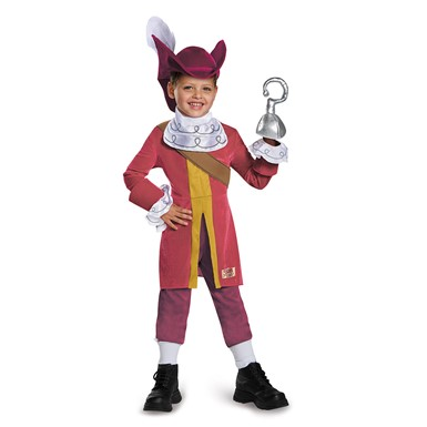 Toddler Deluxe Neverland Pirates Captain Hook Costume