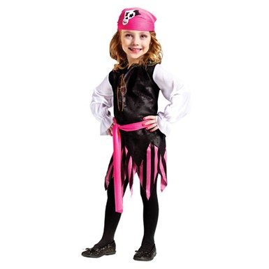 Toddler Girls Caribbean Pirate Tropical Costume