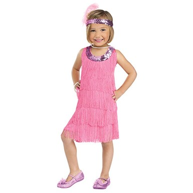 Toddler Pink Flapper Costume