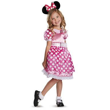 Toddler Pink Minnie Mouse Light-Up Costume