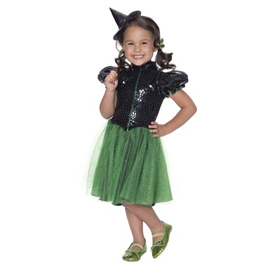 Toddler Wicked Witch of the West Sequin Halloween Costume
