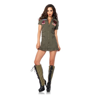 Top Gun Costume - Womens Flight Dress