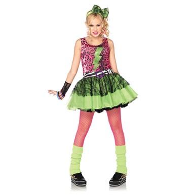 Totally 80's Teen Costume - Tween Girls Halloween Costume